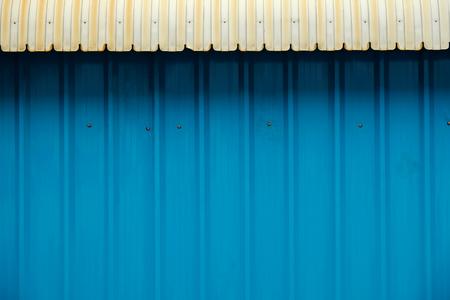 metal sheet: corrugated metal sheet as background Stock Photo