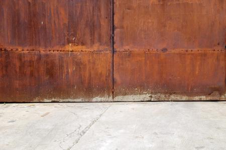 rust metal: rust metal door street Stock Photo