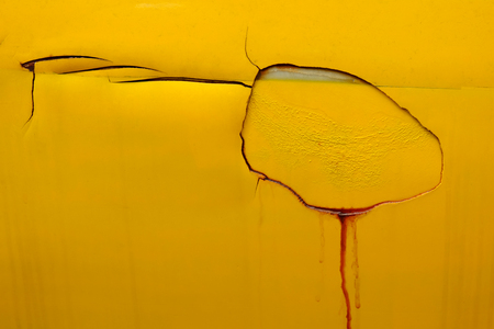 yellow car texture with crack