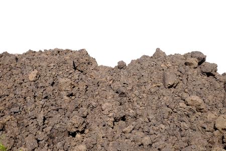 토양 건설 더미