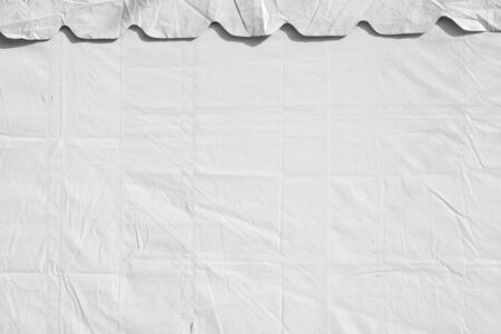 white sheet: crumpled white plastic sheet Stock Photo
