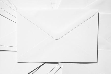 envelops: Stack of white envelops