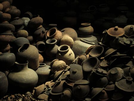 pile of ancient earthenware