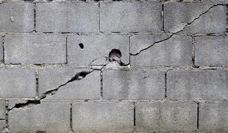 broken block cement wall Reklamní fotografie