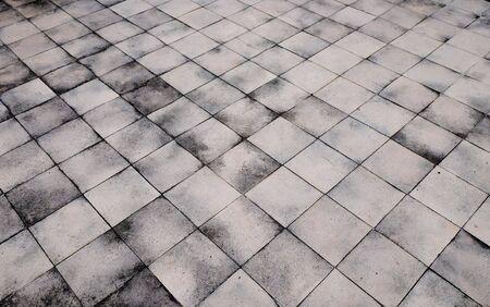 dirty concrete block floor