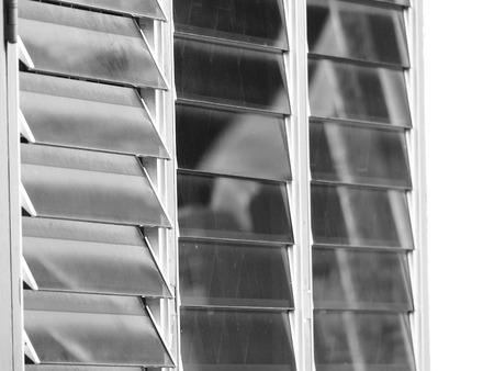 louver: Windows glass louver closeup Stock Photo