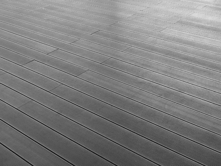 white wood floor: black and white wood floor pattern Stock Photo