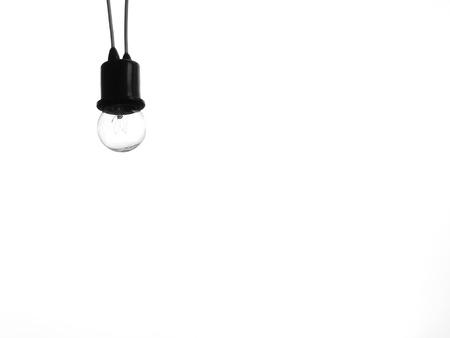 lamp light: Light lamp on white background