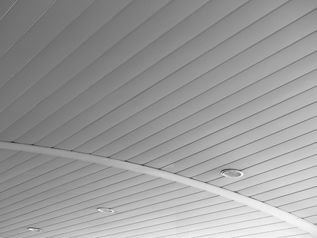 florescent light: fluorescent lamp on the modern ceiling Stock Photo
