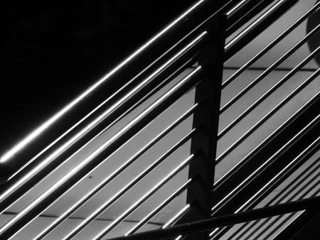 baranda para balcon: barandilla de acero inoxidable Foto de archivo