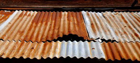 zinc: zinc roof with rust Stock Photo