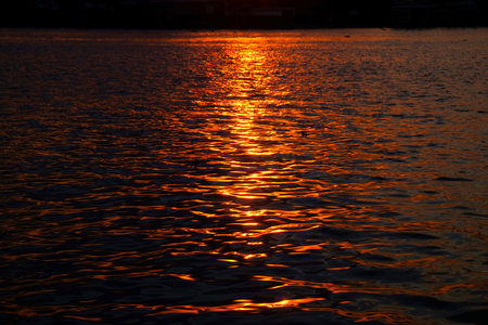 seawater: Abstract golden reflection on water sunset