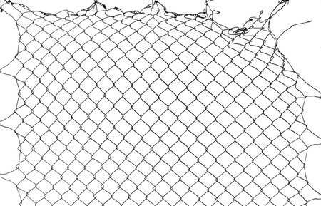 damage wire mesh Stock Photo