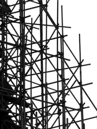 scaffolder: silhouette scaffolding Elements black and white