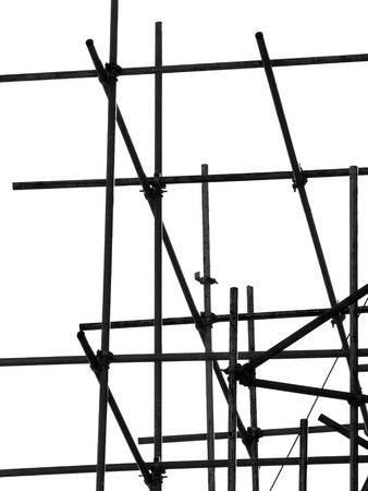 tightened: silhouette scaffolding Elements black and white