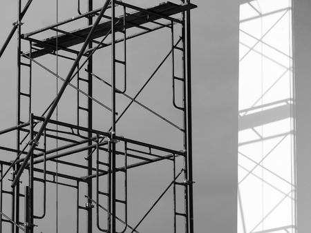 silhouette scaffolding Elements black and white