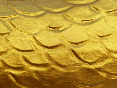 traditional pattern: gold scale dragon stucco texture