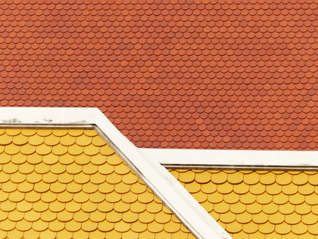 tile roof pattern Stock Photo