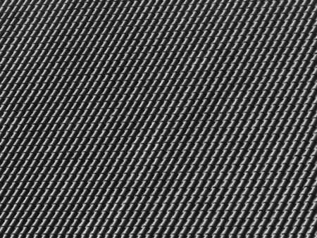grey pattern: black and white roof tile pattern Stock Photo