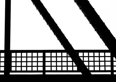 post: Silhouette steel bridge structure