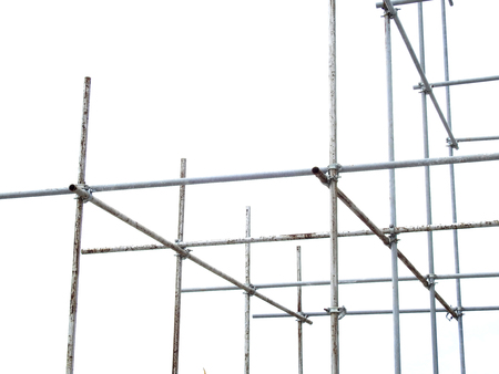 scaffolding elements on white background