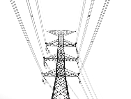 Elektrische paal Stockfoto - 81421997