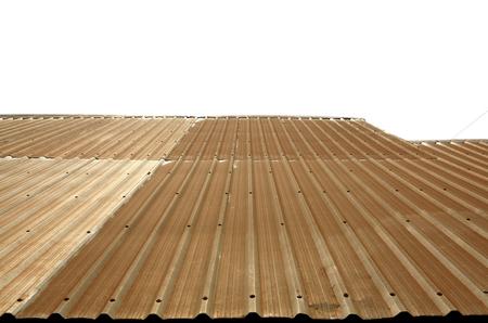 old corrugated metal sheet roof with rust texture Lizenzfreie Bilder