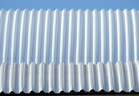 metal sheet roof with blue sky