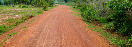Red dirt road in the countryside