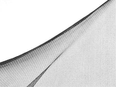 silhouet visnet op witte achtergrond Stockfoto