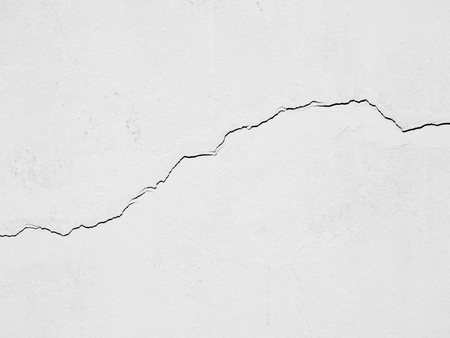 crack texture on white wall background