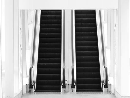 street escalator black and white style