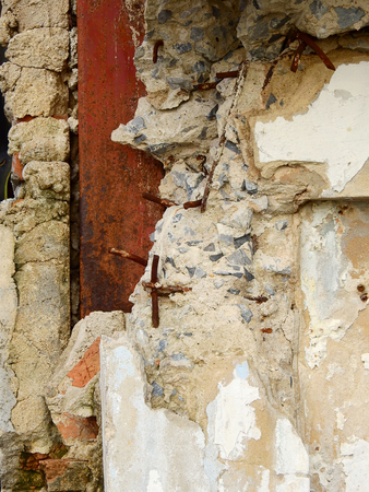 grooves: damage wall Stock Photo