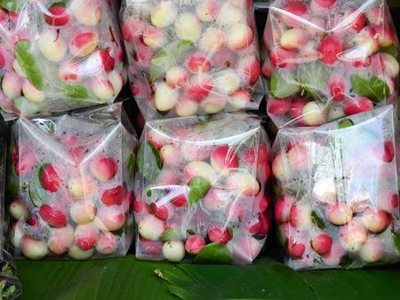 Carissa carandas Linn., herb in plastic bag at market