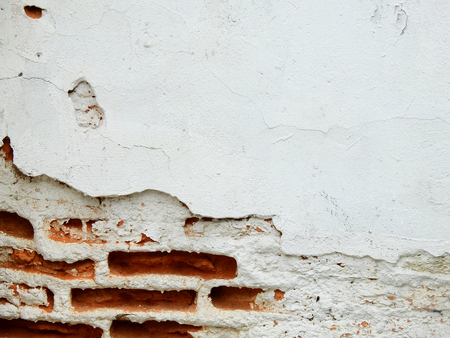 old white wall with crack texture background