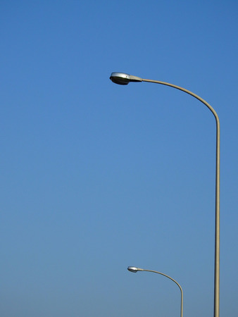street lamp post with blue sky background Standard-Bild
