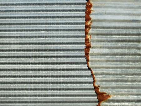 Old damage rusty zinc plate wall