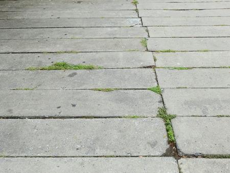 concrete block floor in street Imagens - 118713664