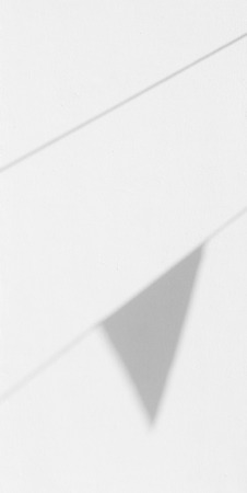 shadow of flag on white wall background Stockfoto