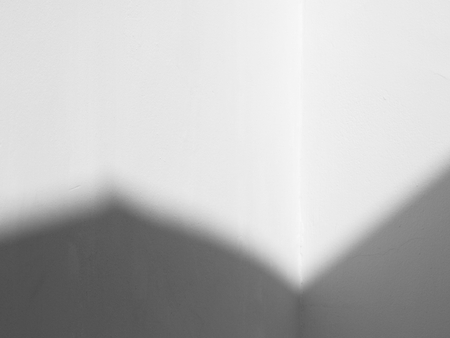 white wall with shadow background Stockfoto