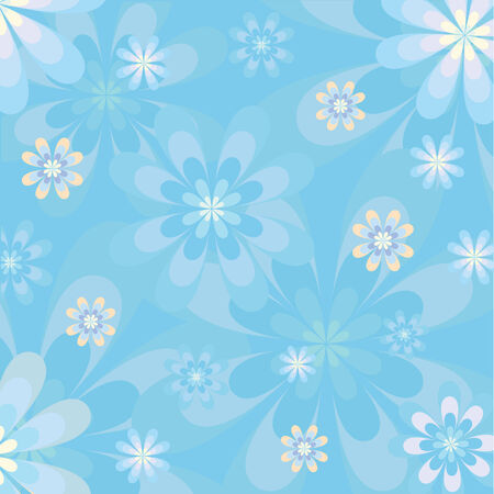 Blue Floral Card Design Vector Vector