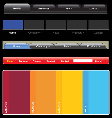 web navigation templates easy to edit