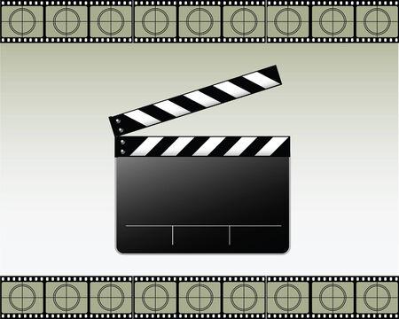 movie clapper: Vector Movie batacchio