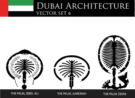 Dubai palms Vector