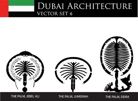 the emirates: Palmas de Dubai Vectores