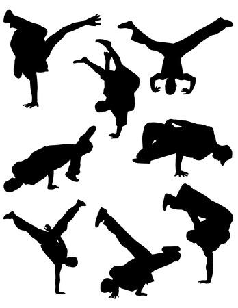 adolescence: Break dance silhouettes