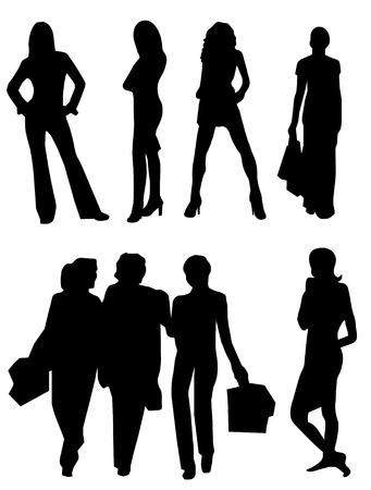 sexes: Set of women vector 6