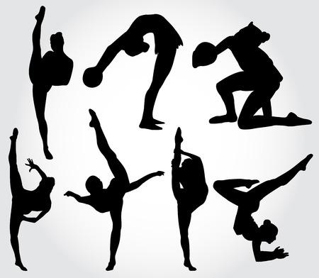 Rhythmic gymnastic Illustration