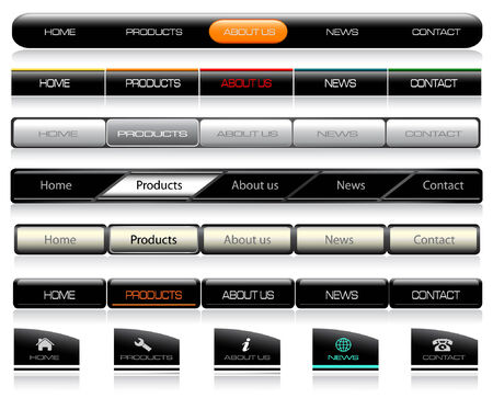 Editable Website Navigation Templates Vector