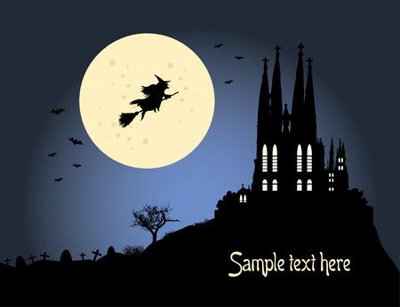 Halloween background vector Vector